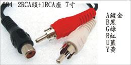 Dual RCA Plug To RCA Jack