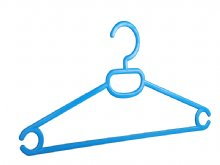 Shirt hanger with necktie hole