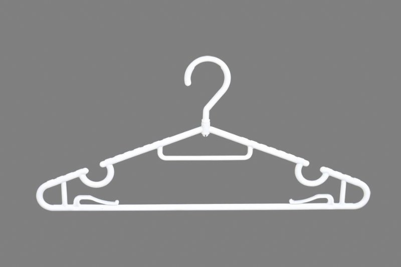 Shirt hangers with Notches and Towel knots