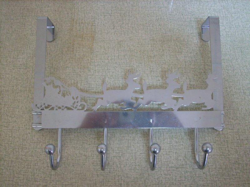 Chritmas Over Door hangers with 4 coated hooks