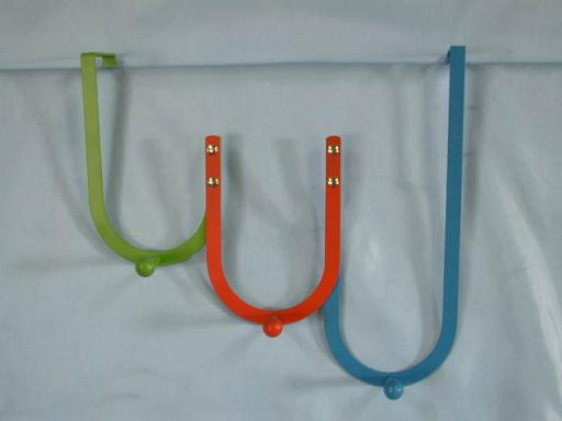 Colorful Over Door Hangers with 3 coat hooks