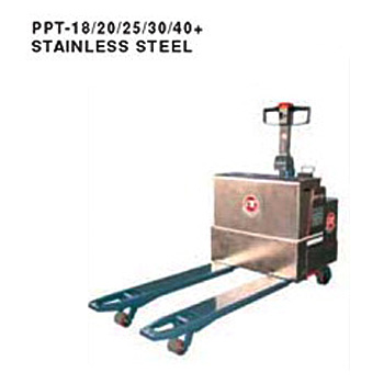 Stainless Electric Pallet Truck (Load: 1.8Tons / 2Tons / 2.5Tons / 3Tons t / 4 Tons ) PPT-18/20/25/30/40+Stainless Steel