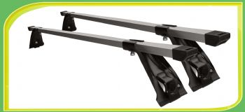 Aluminum Roof Bars universal for car with channel gutters QEE Loading Max. 70kgs.