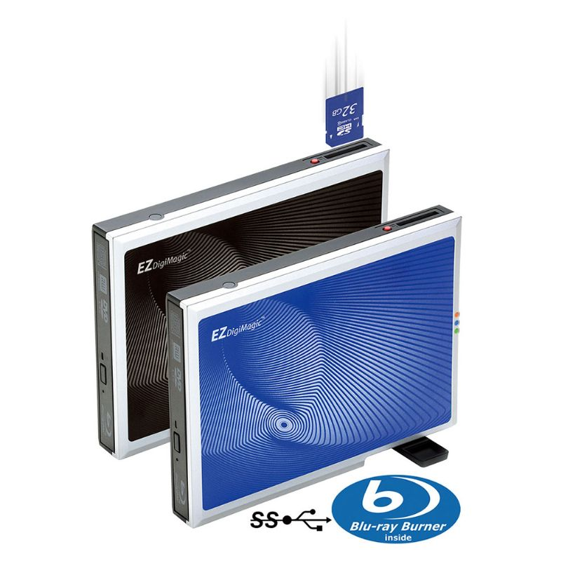 USB3.0 External Blu-ray Disc Drive with Single Button Operation