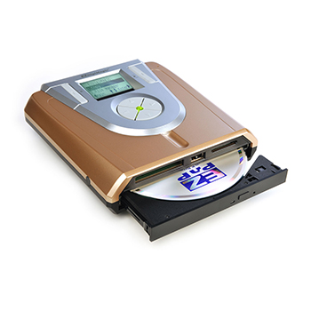 Battery-Powered Portable Disc Drive with No PC Required