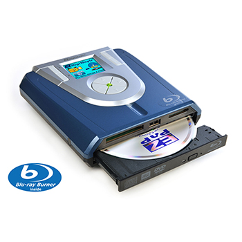 Portable M-Disc Supported Blu-ray Burner with no PC required