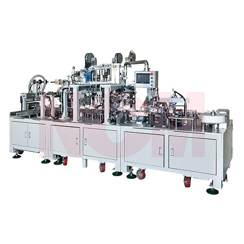 Cup mask  cone mask body making machine and cup mask accessories attaching machine(after process machine)