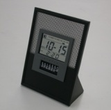 See-through LCD Perpetual Calendar Clock with alarm
