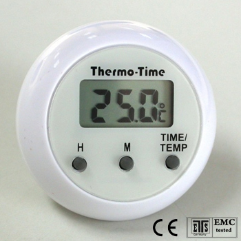 Stick-on Thermometer Clock