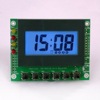 Perpetual Alarm Clock Module with Blue Backlight