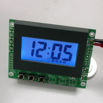 4 Perpetual Alarms LCD Clock Module with Blue Backlight