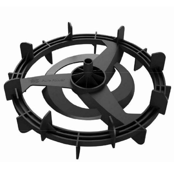 """""""Pure Power Impeller"""" water rowing system v.s. traditional """"Stainless Impeller"""