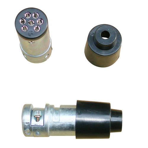 7 Pin Small Metal Trailer Plug
