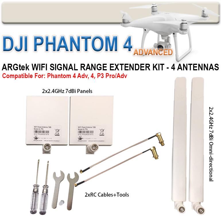 WiFi Range Extender (4X) for DJI Phantom 4, 3 Pro & Advanced