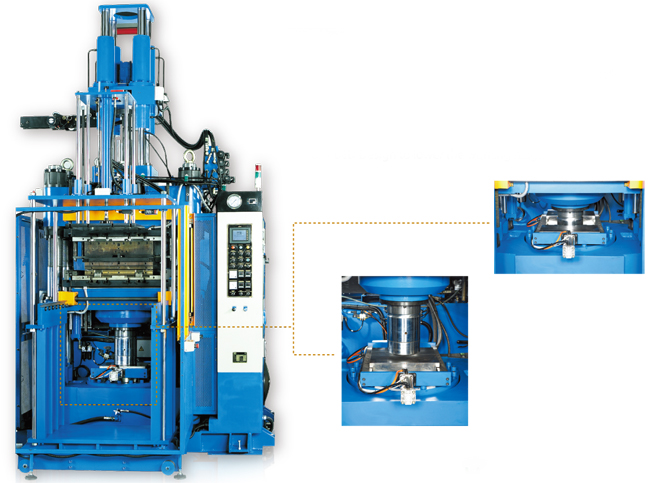 , Vertical Type Low Red Rubber Injection Molding Machine